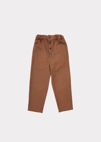 Panda trousers - orange houndstooth