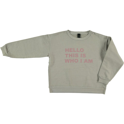 Sweatshirt Hello - Chateau Gray