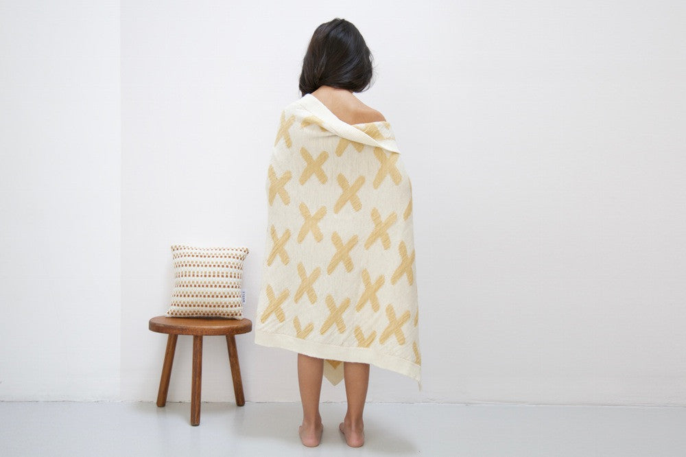 WACA blanket - ochre - KID - 1
