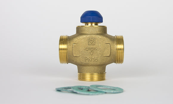 MPBV100-A - Three-way full-flow DN25 injection valve with fibre washers