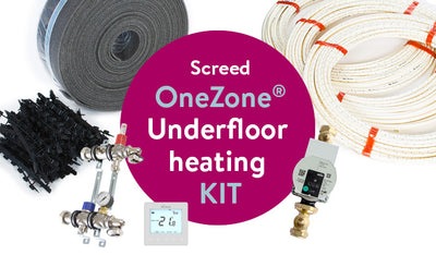 ClipTrack® Screed OneZone® underfloor heating kit