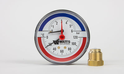 TPG6-C - Temperature/6-bar pressure gauge