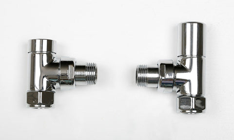 Standard angled valves - polished finish (pair)