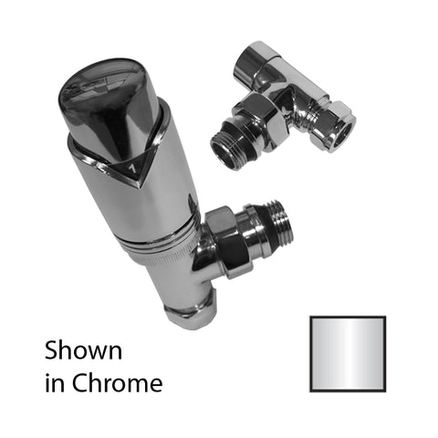 Ultima Angled Thermostatic Valve Pack 10/15mm Chrome