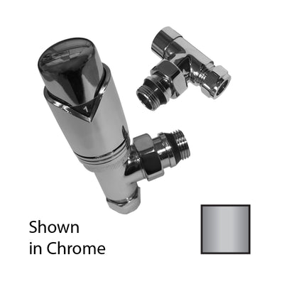 Ultima Angled Thermostatic Valve Pack 10/15mm Brushed Nickel