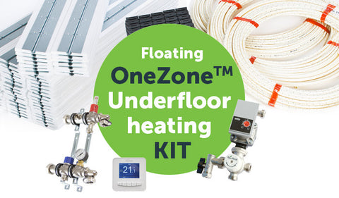 Floating underfloor heating OneZone kit