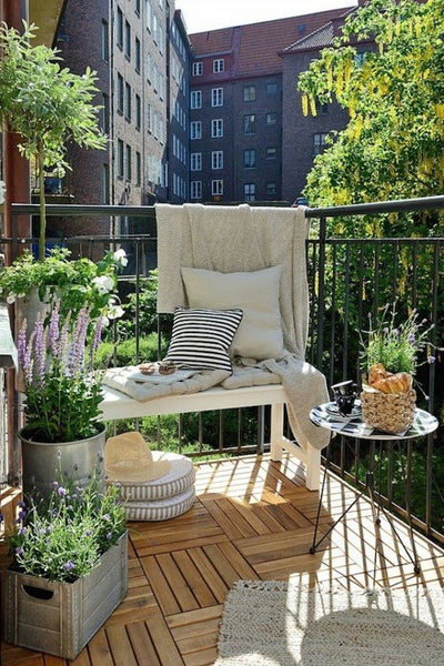 amenagement balcon terrasse