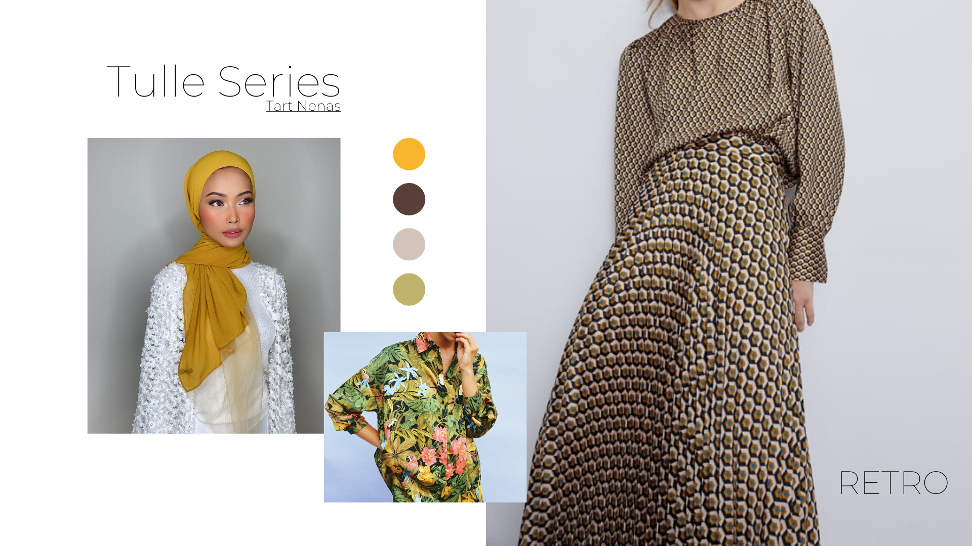 acupofdee, bloom, florals, hijab, modest fashion, style tip, lookbook, tulle series, yellow, retro, abstract, topical,