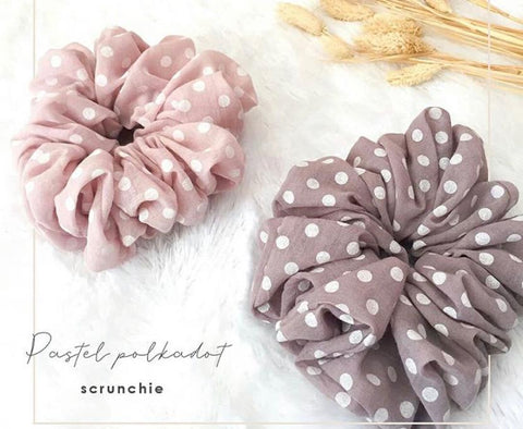 Scrunchies Pastel Polka Dot
