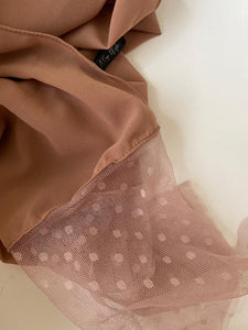 Pretty Tan Rubiah Tulle (NEW COLOUR)
