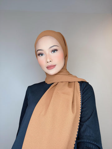 Copper Tan Scallop Lasercut (Khimar)