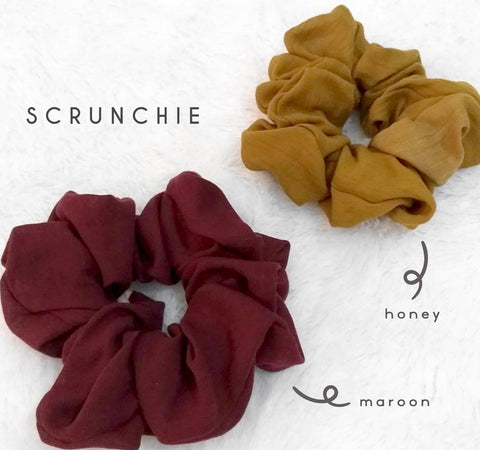 Scrunchies Maroon Honey