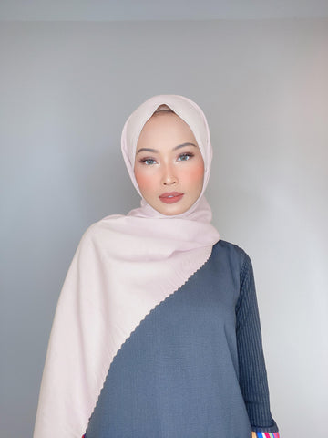 Rose Blush Flowy Lasercut (Khimar)