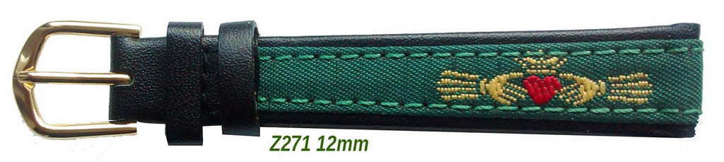 Claddagh Embroidered  ladies strap