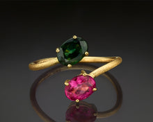 "Load image into Gallery viewer, ""Majoris""- Tourmaline Cocktail Ring."