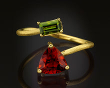"Load image into Gallery viewer, ""Tauri""- Tourmaline Cocktail Ring."