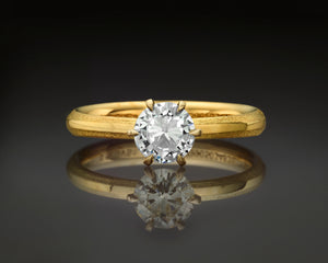 """Noa""- Round Brilliant Diamond Engagement Ring."