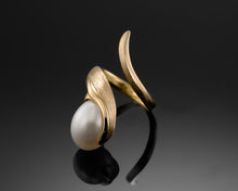 "Load image into Gallery viewer, ""Life""- Oval Pearl Ring."