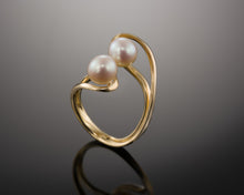 "Load image into Gallery viewer, ""Unity""- Twin Pearl Ring."