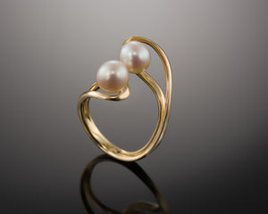 """Unity""- Twin Pearl Ring."