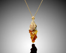 "Load image into Gallery viewer, ""Trip of Colors""- Zinc & Sapphire Statement Pendant."