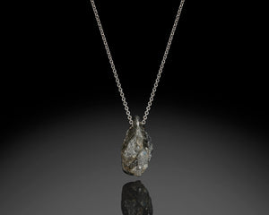 """Gravity""- Rough Diamond Pendant."