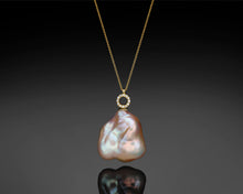 "Load image into Gallery viewer, ""Bellatrix""- Keshi Pearl & Diamonds Necklace."