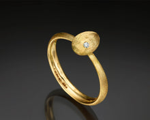 "Load image into Gallery viewer, ""Cleaner wrasse""- Gold nugget ring"