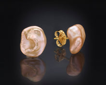 "Load image into Gallery viewer, ""Fog""- Pearls Stud Earrings."
