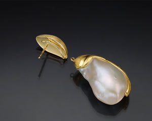 """Hat Rin""- Keshi Baroque Versatile Earrings."