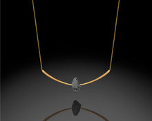 "Load image into Gallery viewer, ""Archery""- Arc Diamond Necklace."