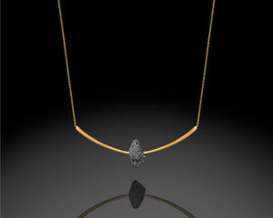 """Archery""- Arc Diamond Necklace."