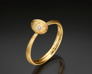 """Cleaner wrasse""- Gold nugget ring"