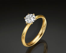 "Load image into Gallery viewer, ""Noa""- Round Brilliant Diamond Engagement Ring."