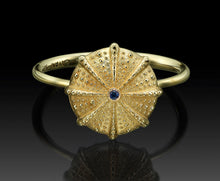 "Load image into Gallery viewer, ""SEA URCHIN"" - Gold Ring."