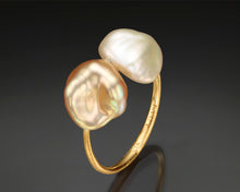 "Load image into Gallery viewer, ""Sync""- Keshi Baroque Open Ring."