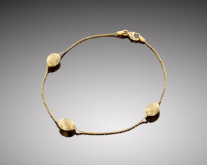 """Pyrosome"" - Gold Nuggets Soft Bracelet"