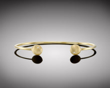 "Load image into Gallery viewer, ""Yellow-tail""- Nuggets Diamond Bangle."