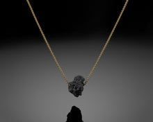 "Load image into Gallery viewer, ""Gravity""- Black Rough Diamond Pendant."