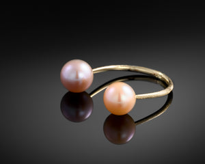 """Moons of Saturn""- Open Pearls Ring."