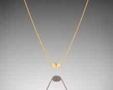 "Load image into Gallery viewer, ""Bryozoa""- Floating Gold Necklace."