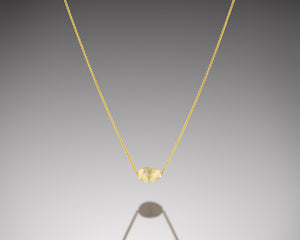 """Bryozoa""- Floating Gold Necklace."