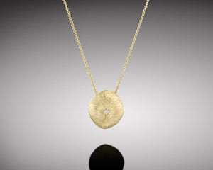 """Arthropod""- Gold Nugget Necklace."