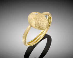 """Cleaner wrasse""- Gold Nugget Ring."