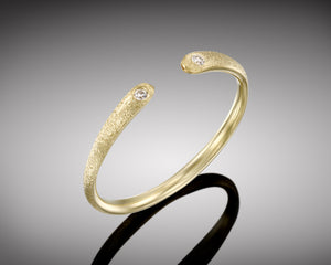 """Ostracod""- Open Diamond Ring."