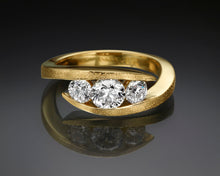 "Load image into Gallery viewer, ""Liliane""- Three Stone Engagement Ring."