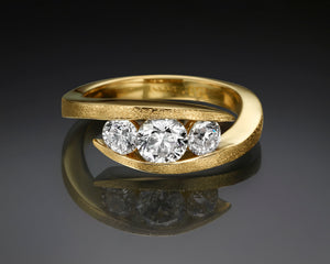 """Liliane""- Three Stone Engagement Ring."