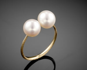 """Haumea""- Open Pearls Ring."