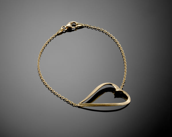 OM MANTRA-18k Yellow Gold ,heart shaped ,soft Bracelet , gift for her, Soft bracelet,For Her, Everyday bracelet, gift for her, For Woman
