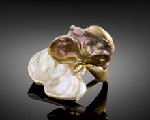 "Load image into Gallery viewer, ""Orchid""-  Keshi Pearls Petal Ring."